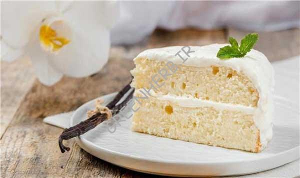 کیک خمیر غلاف وانیل